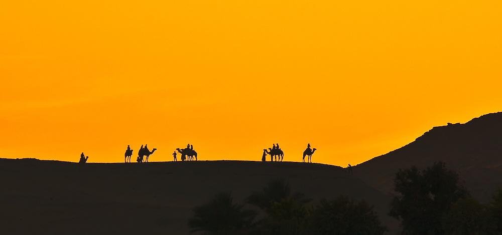 Aswan sunset caravan