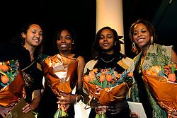 15-12-2008 ALGEMEEN: TOPSPORT GALA: AMSTERDAM<br /> Janice Babel, Jamile Samuel, Kadene Vassel en Loreanne Kuhurima, genomineerde talenten atletiek<br /> ©2008-WWW.FOTOHOOGENDOORN.NL