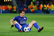 Leicester City Forward Shinji Okazaki during the Champions League round of 16, game 2 match between Leicester City and Sevilla at the King Power Stadium, Leicester, England on 14 March 2017. Photo by Richard Holmes.