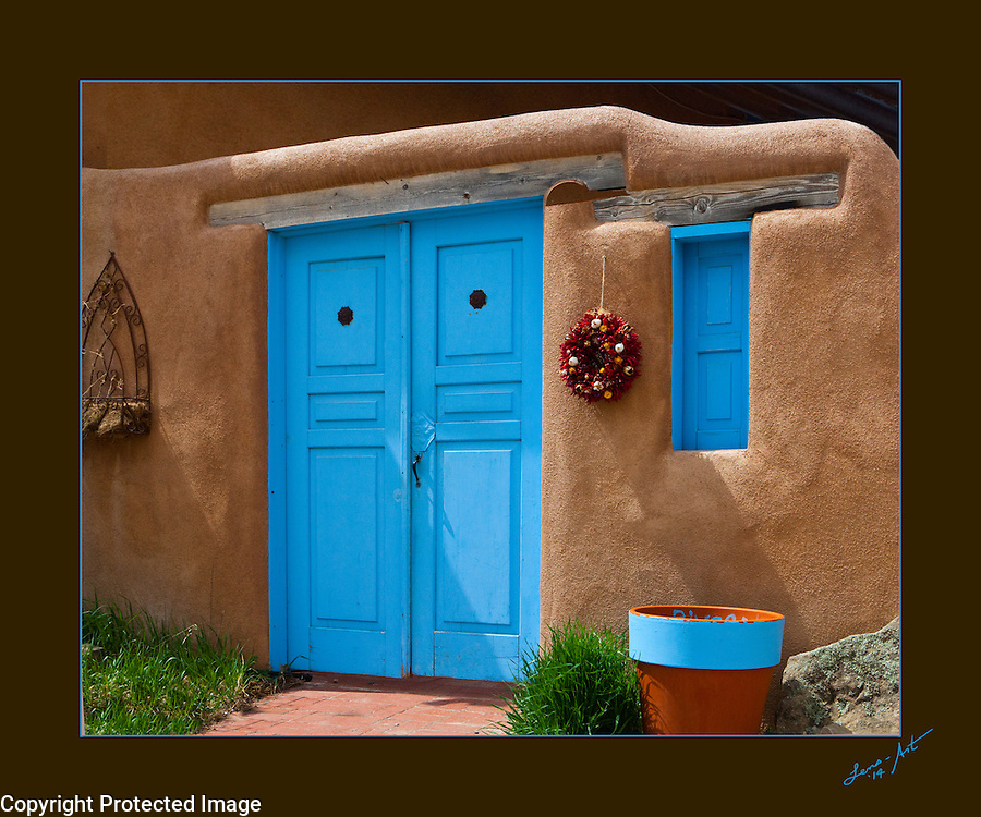 Santa Fe Doorway, New Mexico