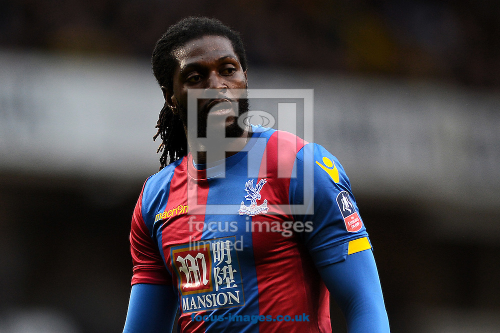 Emmanuel Adebayor of Crystal Palace during the FA Cup match between Tottenham Hotspur and Crystal Palace at White Hart Lane, London<br /> Picture by Richard Blaxall/Focus Images Ltd +44 7853 364624<br /> 21/02/2016