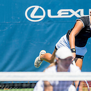 August 23, 2016, New Haven, Connecticut: <br /> Ashley Weinhold and Caitlin Whoriskey in action during the US Open National Playoffs women's doubles finals on Day 5 of the 2016 Connecticut Open at the Yale University Tennis Center on Tuesday, August  23, 2016 in New Haven, Connecticut. <br /> (Photo by Billie Weiss/Connecticut Open)
