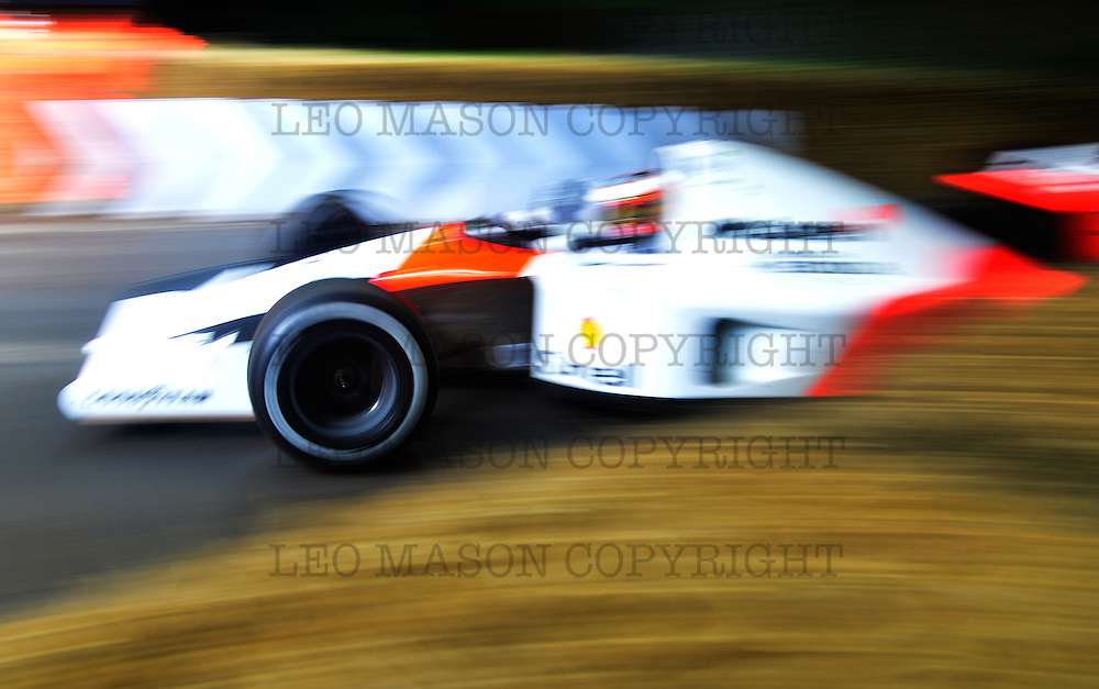26.06.2016 The Goodwood Festival of Speed - Day 2  Goodwood UK Class: Contemporary F1 McLaren-Honda MP4/6 Driver Jenson Button<br /> <br /> Media Event ID: 647946759