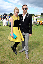 HANNAH SHAW and actor ELLIOTT COWAN at the 2008 Veuve Clicquot Gold Cup polo final at Cowdray Park Polo Club, Midhurst, West Sussex on 20th July 2008.<br /> <br /> NON EXCLUSIVE - WORLD RIGHTS