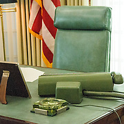 Replica of President Lyndon B. Johnson's Oval Office, display as part of the LBJ Museum in Austin, Texas.