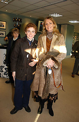 The HON.BILLY LLOYD WEBBER and his mother LADY LLOYD-WEBBER at the 50th running of the Hennessy Gold Cup at Newbury Racecourse, Berkshire on 25th November 2006.<br /><br />NON EXCLUSIVE - WORLD RIGHTS