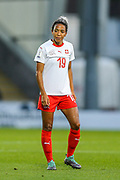 Eseosa Aigbogun (#19) of Switzerland during the 2019 FIFA Women's World Cup UEFA Qualifier match between Scotland Women and Switzerland at the Simple Digital Arena, St Mirren, Scotland on 30 August 2018.