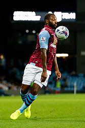 Darren Bent of Aston Villa controls the ball on his chest - Photo mandatory by-line: Rogan Thomson/JMP - 07966 386802 - 27/08/2014 - SPORT - FOOTBALL - Villa Park, Birmingham - Aston Villa v Leyton Orient - Capital One Cup Round 2.