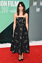 Stacy Martin arriving at the London Film Festival Premiere of Redoubtable, at the Embankment Gardens cinema, London. Picture date: Saturday October 7th, 2017. Photo credit should read: Matt Crossick/ EMPICS Entertainment.