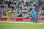 Roy flicks Coulter-Nile off his legs for 4 during the ICC Cricket World Cup 2019 warm up match between England and Australia at the Ageas Bowl, Southampton, United Kingdom on 25 May 2019.