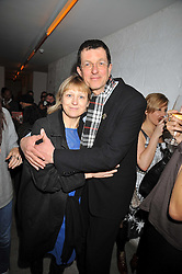 ANTONY GORMLEY and VICKEN PARSONS at the Prada Congo Art Party hosted by Miuccia Prada and Larry Gagosian at The Double Club, 7 Torrens Street, London EC1 on 10th February 2009.