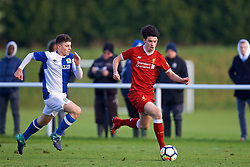 BLACKBURN, ENGLAND - Saturday, January 6, 2018: Liverpool's Curtis Jones during an Under-18 FA Premier League match between Blackburn Rovers FC and Liverpool FC at Brockhall Village Training Ground. (Pic by David Rawcliffe/Propaganda)