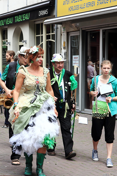 Various characters seen at a parade in Antwerp on 1st July 2012