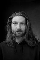 Headshot young man.  ©2016 Karen Bobotas Photographer