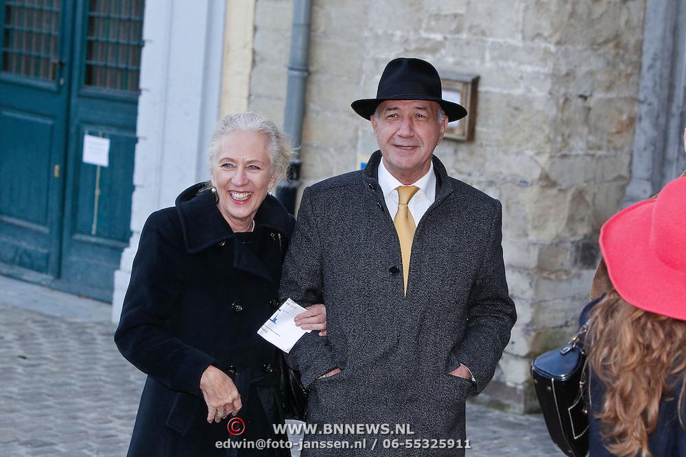 BEL/Brussel/20101120 - Huwelijk prinses Annemarie de Bourbon de Parme-Gualtherie van Weezel en bruidegom Carlos de Borbon de Parme, Wubbo Ockels en partner Joos Swaving