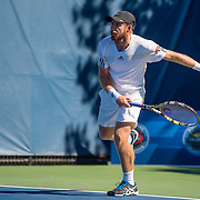 August 22, 2016, New Haven, Connecticut: <br /> Nicolas Meister in action during the US Open National Playoffs men's singles finals match on Day 4 of the 2016 Connecticut Open at the Yale University Tennis Center on Monday August  22, 2016 in New Haven, Connecticut. <br /> (Photo by Billie Weiss/Connecticut Open)