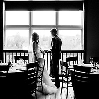 Chris and Laura's First Look at the Byron Colby Barn near Chicago - Chicago Wedding Photography