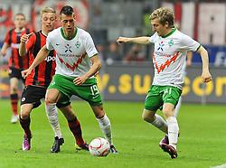 08.04.2011, Commerzbank-Arena, Frankfurt, GER, 1. FBL, Eintracht Frankfurt vs Werder Bremen, im Bild vl. Sonny Kittel (Frankfurt #28), Sandro Wagner (Bremen #19), Marko Marin (Bremen #10), EXPA Pictures © 2011, PhotoCredit: EXPA/ nph/  Roth       ****** out of GER / SWE / CRO  / BEL ******