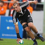 Blade Thomson, New Zealand, scores a try for his side during the New Zealand V South Africa semi final match at Estadio El Coloso del Parque, Rosario, Argentina, during the IRB Junior World Championships. 17th June 2010. Photo Tim Clayton....