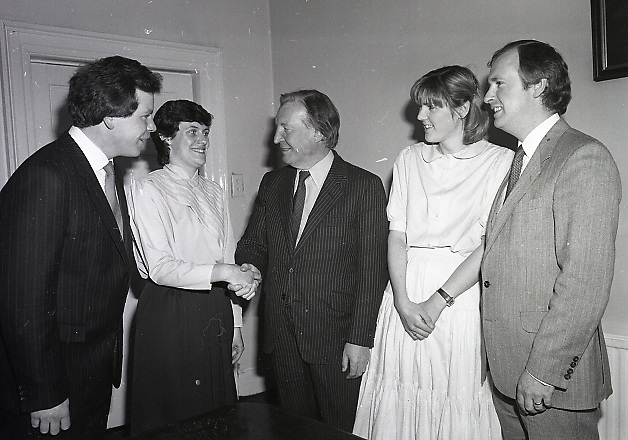 New three people joining up Fianna Fáil, Head Quarter, Dublin,<br />
