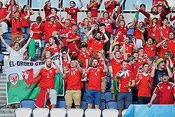 PARIS, FRANCE - Saturday, June 25, 2016: Wales supporters dance after the 1-0 victory over Northern Ireland during the Round of 16 UEFA Euro 2016 Championship match at the Parc des Princes. (Pic by David Rawcliffe/Propaganda)