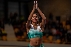 Killiana Heymans in action on pole vault during the Dutch Indoor Athletics Championship on February 23, 2020 in Omnisport De Voorwaarts, Apeldoorn