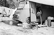 Visiting, at Glastonbury, 1989.