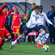 ANDORRA LA VELLA, ANDORRA. June 1.  Kylian Mbappe #10 of France dribbles past Marc Rebes #4 of Andorra during the Andorra V France 2020 European Championship Qualifying, Group H match at the Estadi Nacional d'Andorra on June 11th 2019 in Andorra (Photo by Tim Clayton/Corbis via Getty Images)