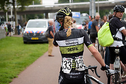 Eva Buurman caught up in the crash in the final sprint at Boels Rental Ladies Tour Stage 2 a 132.8 km road race from Eibergen to Arnhem, Netherlands on August 30, 2017. (Photo by Sean Robinson/Velofocus)