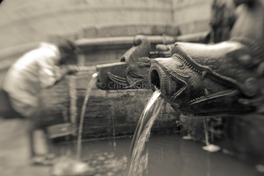 Public fountain in Patan's Durbar Square.