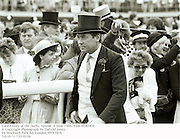 Lord Vestey at the Derby. Epsom. 4 June 1986. Film 86409f4<br />