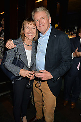 SIR CHRISTOPHER & LADY MEYER at the West End opening night of 'Great Britain' a  play by Richard Bean held at The Theatre Royal, Haymarket, London followed by a post show party at Mint Leaf, Suffolk Place, London on 26th September 2014.