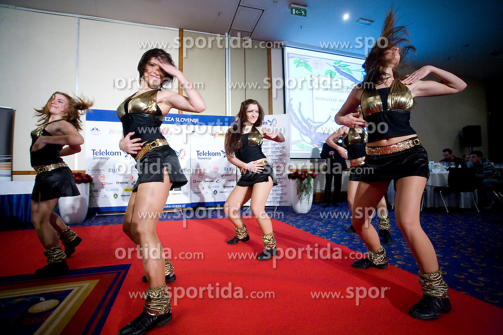 Dance group Ladies at Best Slovenian athlete of the year ceremony, on November 15, 2008 in Hotel Lev, Ljubljana, Slovenia. (Photo by Vid Ponikvar / Sportida)