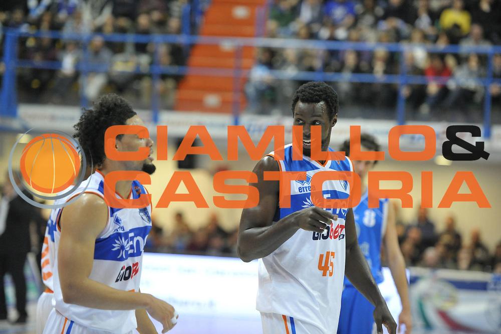 DESCRIZIONE : Brindisi Lega A 2012-13 Enel Brindisi Banco di Sardegna Sassari<br /> GIOCATORE : Jerai Grant Scottie Reynolds<br /> CATEGORIA : Esultanza<br /> SQUADRA : Enel Brindisi<br /> EVENTO : Campionato Lega A 2012-2013 <br /> GARA : Enel Brindisi Banco di Sardegna Sassari<br /> DATA : 03/03/2013<br /> SPORT : Pallacanestro <br /> AUTORE : Agenzia Ciamillo-Castoria/V.Tasco<br /> Galleria : Lega Basket A 2012-2013  <br /> Fotonotizia : Brindisi Lega A 2012-13 Enel Brindisi Banco di Sardegna Sassari