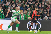 Celtic Captian Scott Brown (C) (#8) during the Europa League match between Celtic and Rennes at Celtic Park, Glasgow, Scotland on 28 November 2019.