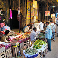 Vendors at Chor Bazaar Street Market in Mumbai, India<br />
