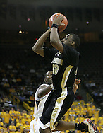 26 NOVEMBER 2007: Wake Forest guard L.D. Williams (42) shoots over Iowa forward Cyrus Tate (44) in Wake Forest's 56-47 win over Iowa at Carver-Hawkeye Arena in Iowa City, Iowa on November 26, 2007.