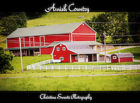 Amish country red barn