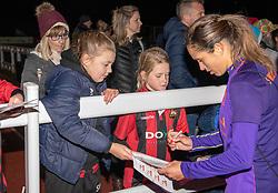 Courtney Sweetman Kirk of Liverpool Women signs an autograph - Mandatory by-line: Paul Knight/JMP - 17/11/2018 - FOOTBALL - Stoke Gifford Stadium - Bristol, England - Bristol City Women v Liverpool Women - FA Women's Super League 1