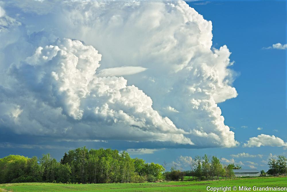 Thunderhead clouds<br /> Wroxton<br /> Saskatchewan<br /> Canada