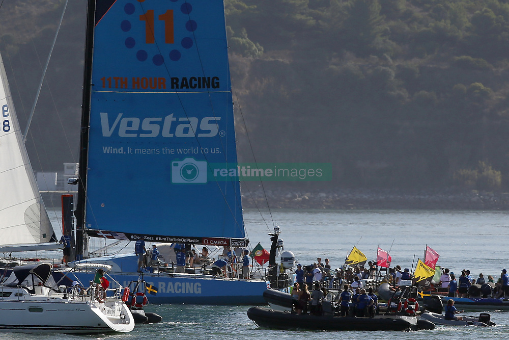 October 28, 2017 - Lisbon, Portugal - Vestas 11th Hour Racing boat wins Leg 1 from Alicante to Lisbon during the Volvo Ocean Race 2017-2018, in Lisbon, Portugal on October 28, 2017. Photo: Pedro Fiuza (Credit Image: © Pedro Fiuza via ZUMA Wire)