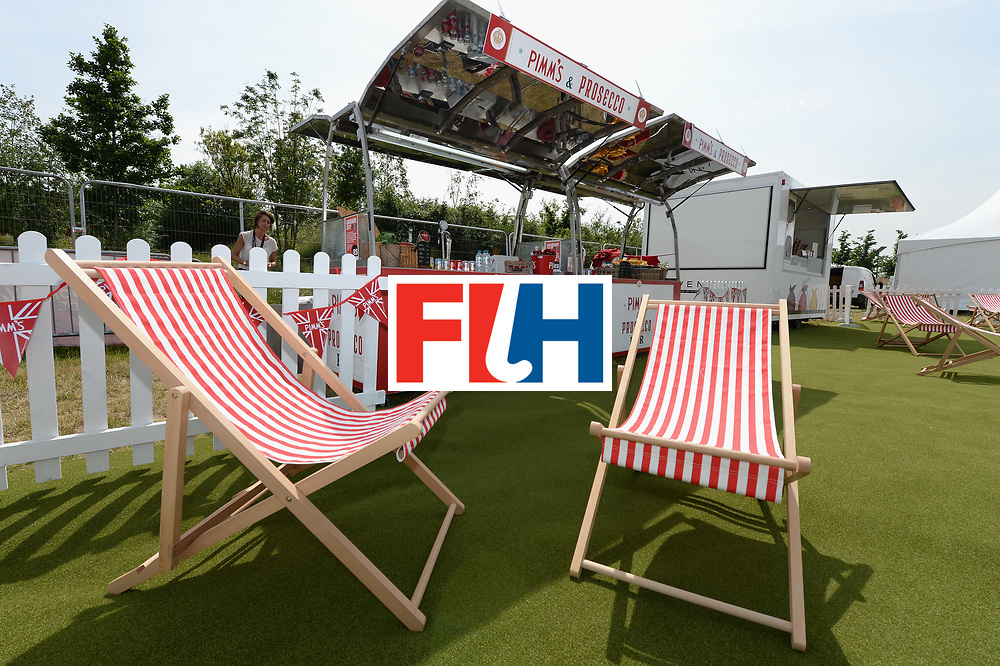 LONDON, ENGLAND - JUNE 10:  A view of the Pimm's Procsecco Bar and Movenpick Ice Cream stand in the fan zone during the FIH Men's Hero Hockey Champions Trophy 2016 - Day One match between Germany and India at Queen Elizabeth Olympic Park on June 10, 2016 in London, England.  (Photo by Tony Marshall/Getty Images)