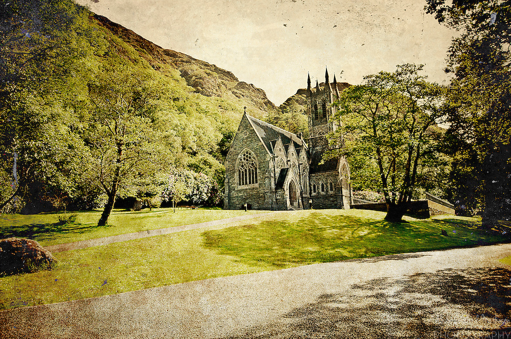 The Gothic Church at Kylemore Abbey was designed to resemble a cathedral in miniature.