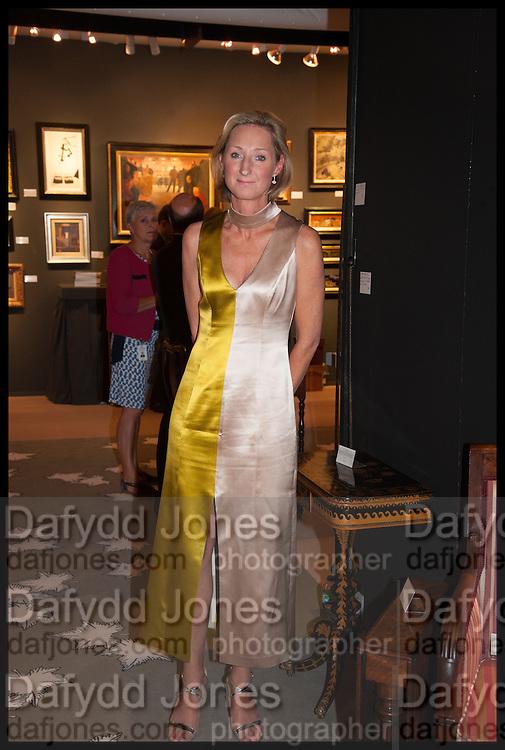 SARAH PERCY-DAVIS at the preview of LAPADA Art and Antiques Fair. Berkeley Sq. London. 23 September 2014.