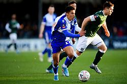 Tyler Smith of Bristol Rovers makes a break - Mandatory by-line: Ryan Hiscott/JMP - 01/12/2019 - FOOTBALL - Memorial Stadium - Bristol, England - Bristol Rovers v Plymouth Argyle - Emirates FA Cup second round