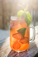 """The """"Celestine"""", a coctail featuring strawberries, mescal and basil, at the Villa Pescadores beach club in Tulum, Mexico."""