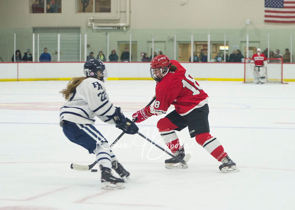 St Paul's School girls varsity hockey with Andover.. ©2019 Karen Bobotas Photographer