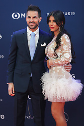 """2019?2?19?.    ?????????2019?????????????.    2?18????????????????????Daniella Semaan??2019??????????????.    ???2019????????????????""""????""""??????.    ?????????..SP-MONACO-WORLD SPORTS AWARDS-.Spainish football player Cesc Fabregas and his wife Daniella Semaan pose on the red carpet of the 2019 Laureus World Sports Awards ceremony in Monaco, Feb. 18, 2019. The 2019 Laureus World Sports Awards were unveiled in Monaco on Monday. (Credit Image: © Zheng Huansong/Xinhua via ZUMA Wire)"""