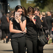 FRIDAY, FEBRUARY 16- 2018---PARKLAND, FLORIDA--<br /> Family and Friends cry after attending the  funeral service for Alyssa Miriam Alladeff, 14, a victim of the school massacre at Marjory Stonemason Douglass High School.<br /> (Photo by Angel Valentin/FREELANCE)