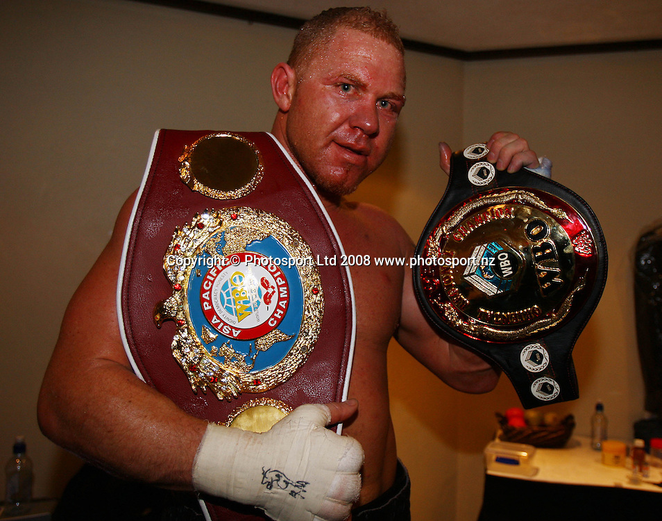 Boxing - Shane Cameron v Terry Smith, 27 September 2008 | Photosport